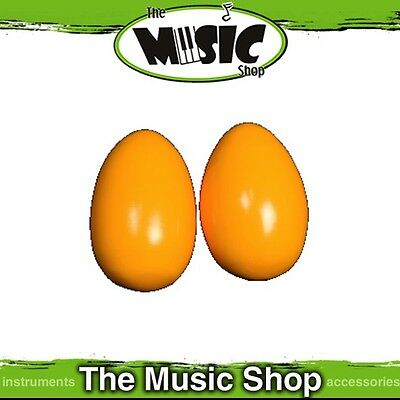New Pair Mano Percussion Large Wooden Egg Maracas - Yellow Finish - UE780Y
