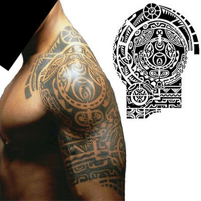 Waterproof Body Makeup Left Shoulder Temporary Tattoo Sticker Stickers Removable