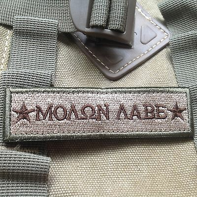 Molon Labe Tactical Military Usa Army Isaf Morale Badge Swat Patch