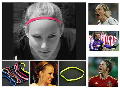 2 X Non-slip Fashion Headband Sweatband for Gym Sport Tennis Yoga Soccer Running