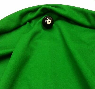 Eddie Charlton DIRECTIONAL Pool Snooker Billiards CLOTH 8ft x 4ft - GREEN