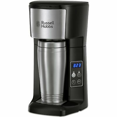 Russell Hobbs 22630 Brew & Go Coffee Machine Stainless Steel with Black Accents