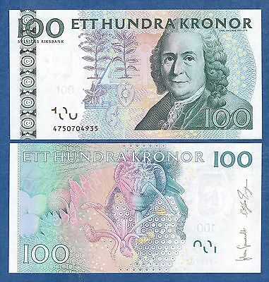 Sweden 100 Kronor P 65 New Date 2014 UNC Low Shipping! Combine FREE!