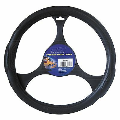 Steering Wheel Cover - SWC4B - Mountney - Black Leather / All Black