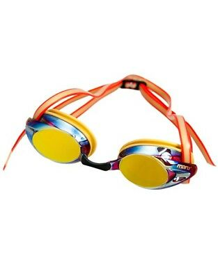 Maru Pulse Mirror Anti Fog Competition Swim Red Goggle Gold Mirrored UV Lens