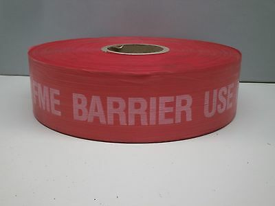 Red Barrier Barricade Tape 1000ft - FME BARRIER USE DESIGNATED ENTRY POINT