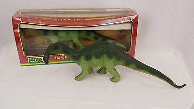 VINTAGE 1988 THE CARNEGIE SAFARI ADULT APATOSAURUS Lot of 2 DINOSAUR w/ 1 box