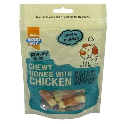 Good Boy Pawsley & Co Chewy Bones With Chicken - Pure Low Fat Chicken Dog Treats