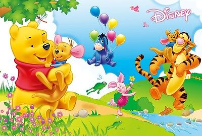 3D Winnie The Pooh Honey Wall Paper Wall Print Decal Wall Deco Indoor Murals