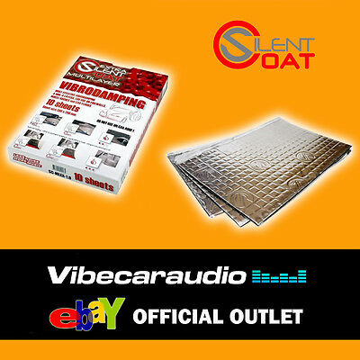 Silent Coat MultiLayer Extra Vibrodamping Sound Deadening 5 Sheets 4mm 375 x 265
