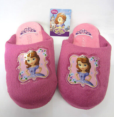 Kids Indoors Shoes Girls Pink Princess Sofia Animated Upper Slippers - Wd8166