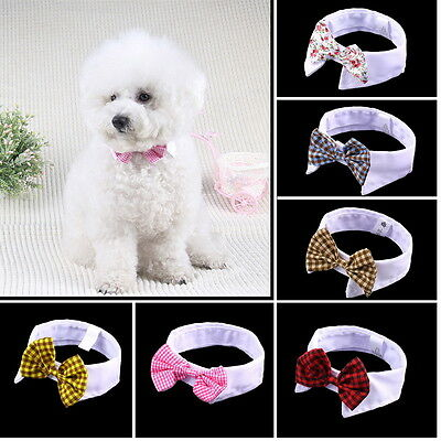 Lovely Dog Cat Puppy Teddy Adjustable Bow Tie Necktie Collar Pet Accessory LO