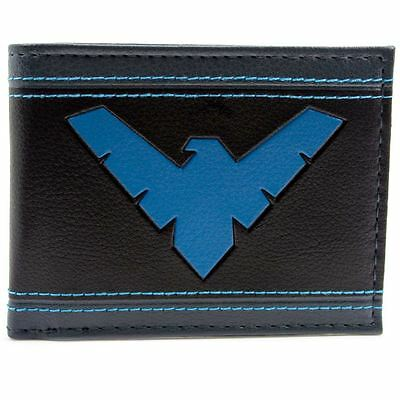 New Official Cool Blue Marvel Nightwing Character Bi-Fold Wallet