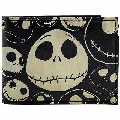 New Official Cool Tim Burton Nightmare Before Xmas Old Style Jack Bi-Fold Wallet