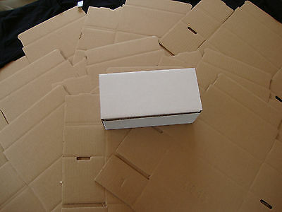 10 White Corrugated Shipping Box 8x4x3 Sunglasses Cardboard Carton Packing Maile