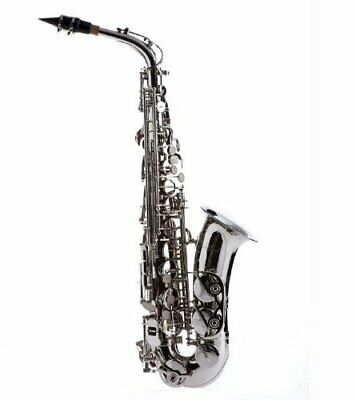 HAWK ALTO SAXOPHONE Nickel Plated With Case, Mouthpiece And more
