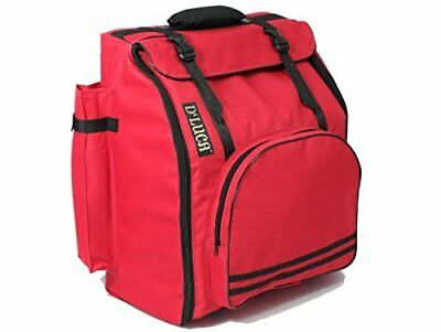 DLuca Pro Series Accordion Gig Bag for 48/72 Bass Piano Accordions, Red DAG-48
