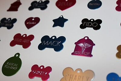 Pet Tags Id Designer Id Tags Single Sided Diamond Engraved Dog Cat Name Tag