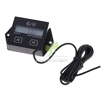 New Hour Meter LCD Display Digital Tachometer Small Engine Spark For Motorcycle