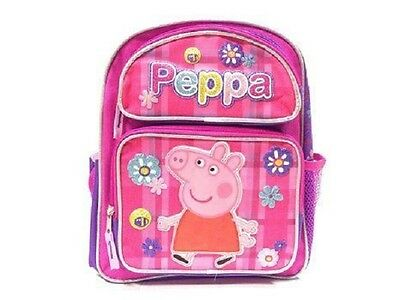 """Peppa Pig Large Backpack 16"""" inches BRAND NEW for Girls Allover Flower Pink"""
