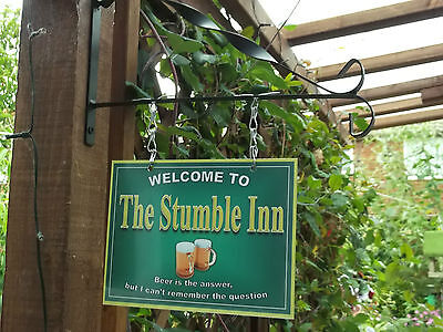 Personalised Hanging Pub sign, Home Bar, homebrew, Man Cave Free P&P