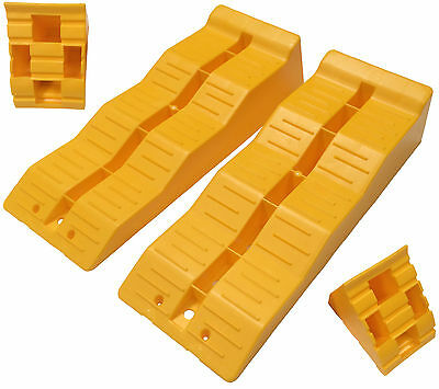 Set of Caravan, Motorhome, Camping Levelling Blocks Ramps TS570 with Chocks