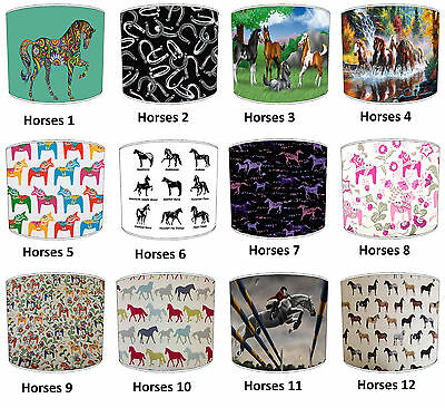 Horses Lampshades Ideal To Match Horse Wallpaper Horse Wall Decals Horse Duvets.