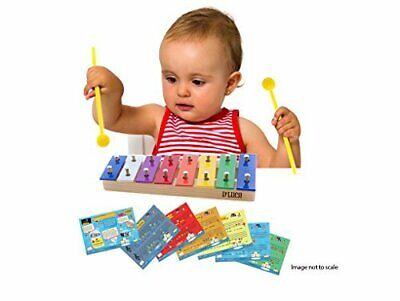 D'Luca 8 Colored Notes Children Xylophone Glockenspiels with Music Cards, CTL8