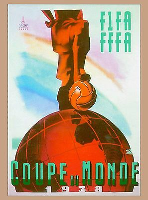 1938 FIFA World Cup Soccer Paris France Sports Travel Advertisement Poster