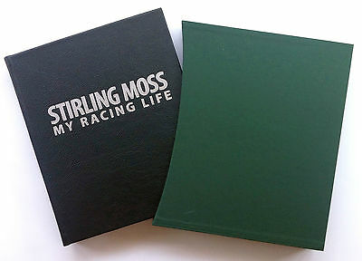 HAND SIGNED Stirling Moss, Leatherbound 'My Racing Life' Simon Taylor NEW, COA