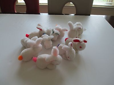 Lot Adorable Vintage Mother Rabbit with Nine Baby Bunnies Oriental Trading Co.