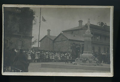 Ww1 1920's Rp Npu Postcard Opening War Memorial&imperial Hotel Terowie Sa T40