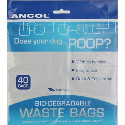 Biodegradable Dog Poo Bags - Ancol Dog Waste Pick Up Bags