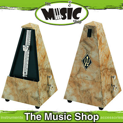 New Wittner Designer Series Pyramid Style Metronome - Light Brown Marble - W859L