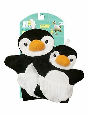Animal Planet Mommy and Baby Bath Mitts (Penguin)