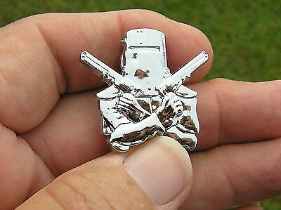 ~ NED KELLY HAT PIN Chrome Metal BADGE *New* Suit Kenworth Peterbilt Reo Trucker