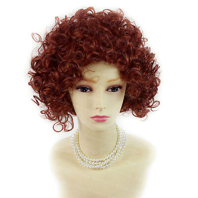 Wiwigs Short Curly Wild Untamed Copper Red Ladies Wig