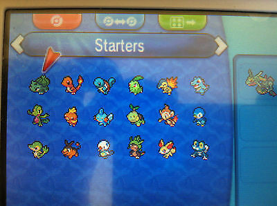 All 18 Shiny Starters Pokemon Omega Ruby Alpha Sapphire ORAS Sun Moon XY 3DS 6IV