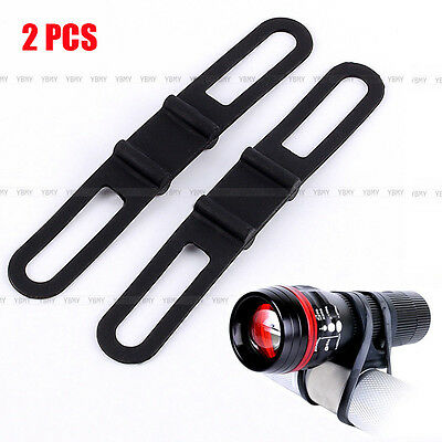Hot Black 2 x Universal Bike Handle Bar Holder Mounting For Flashlight Torch
