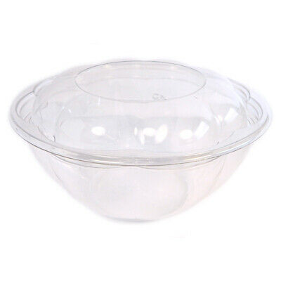 Case of 180 Pactiv Roseware Clear Plastic Bowl with Dome Lid 32oz Model SRW32