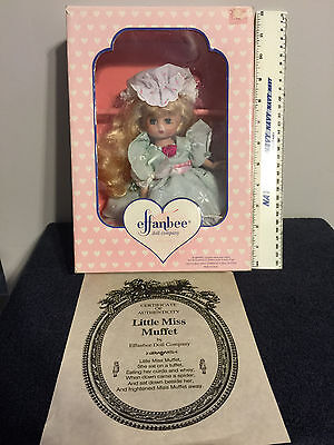 Effanbee Doll - Little Miss Muffet - 1994 COA - New In Box - MUST SEE PICTURES!!