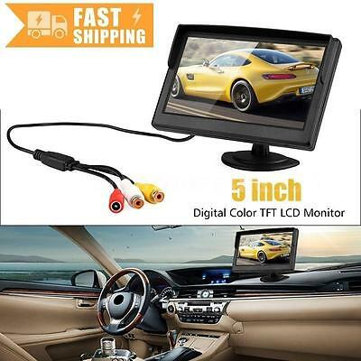 5Inch TFT LCD Car Rear View Monitor For Reverse Backup Camera DVD VCR 2 Bracket