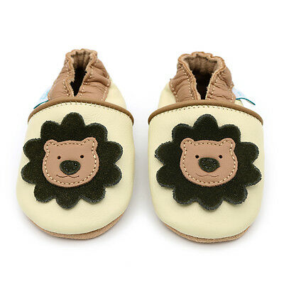 Dotty Fish Soft Leather Baby & Toddler Shoes - Cream Lion - Newborn - 3-4 Years