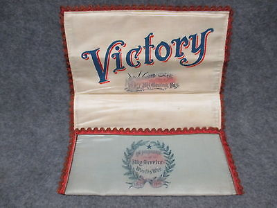 Victory In Memory Of My Service Worlds War WWI 1917-1918 Cloth Document Holder