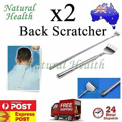 2x Back Scratcher Scratch Telescopic Portable Extendable Extend Pocket Size Pen