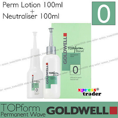 "Goldwell Topform Biocurl Permanent Lotion ""Type 0"" For difficult to perm natural"