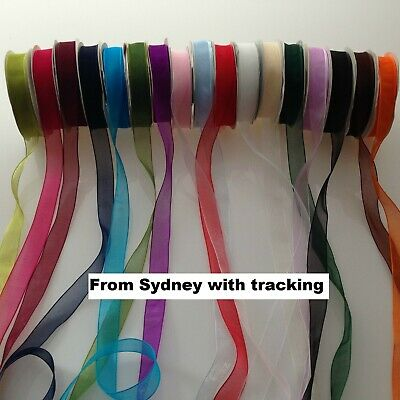 25Yards Organza Woven Edge Ribbon for invitation&craft, bows  (15mm)