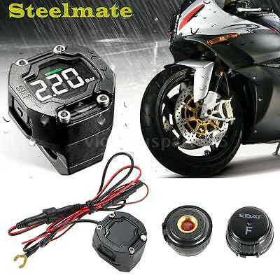 Steelmate Motorcycle Tire Pressure Monitoring System TPMS Visual Audible Alarm