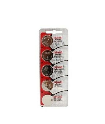 Maxell CR2032 2032 Lithium 3V Batteries Fresh 1 pack of 5 (Made in Japan)