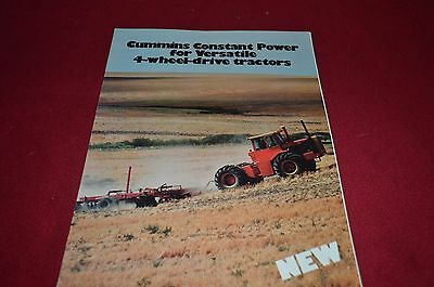 Versatile Tractor Cummins Power for 1977 Dealer's Brochure YABE